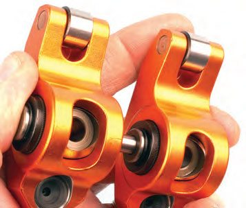 Depending on the cylinder head application, shaft-mounted roller rockers are available in which each pair of a cylinder's rockers ride on their own common shaft, rather than a full-length common shaft.