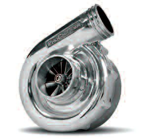Seen here is a turbine-style supercharger (this unit is from ProCharger). The turbine seen through the inlet can typically spin up to 60,000 rpm.