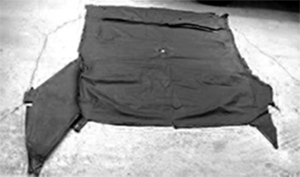 Do not toss out the old headliner just yet. In fact, find a spot in your shop where you can spread it out and where it won't be disturbed. That way you can quickly refer to it for measurements, fastener locations, and general guidance as you install the new headliner. Only when you've completed the new headliner installation should you throw away the old headliner.