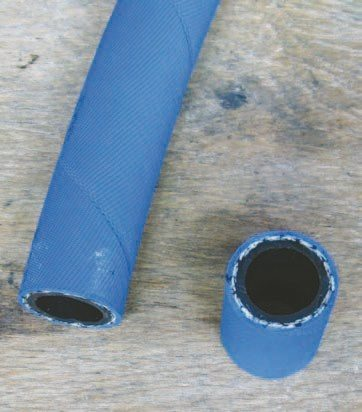 Fig. 2.9. This Aeroquip push-lock hose has a tough core that is very resistant to collapsing. It is also compatible with E85 fuel.
