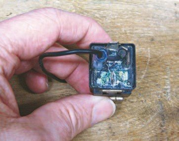 Fig. 2.30. Here is the fuel pump relay. It ultimately took out the fuel pump driver in the ECU, so the installer hardwired it to work when the key was in the ignition position. We sent the ECU back to FAST and had the driver repaired.