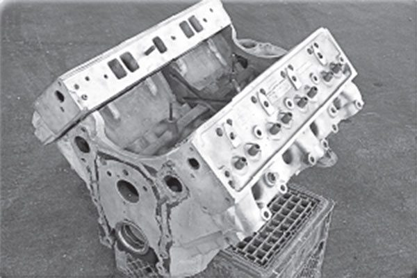 Rambler did offer a die-cast aluminum block for its 195.6 OHV inline six in the early 1960s, but this sand-cast aluminum V-8 is something entirely different.