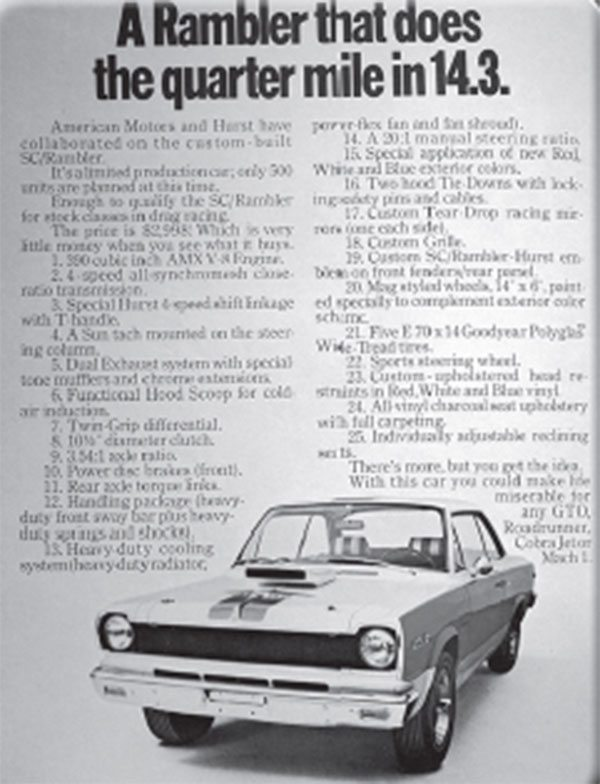 Who was responsible for the 1969 SC/ Rambler's creative advertising campaign?
