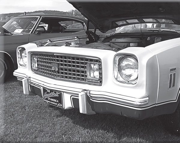 The 1974 Laguna Type S-3's molded nose piece grew into a wind-splitting NASCAR aero aid in 1975, joining the short list of special Detroit homolo- gation offerings.