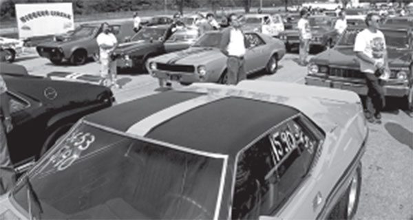 Often ignored due to its location, AMC altered the Javelin roof panel in 1973.