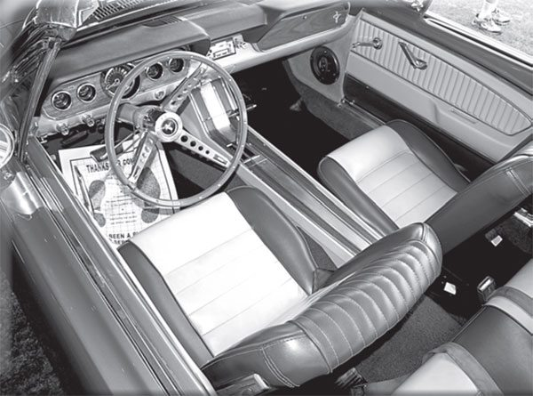 This Mustang has typical and popular front bucket seats. But Ford offered an alternative to Mustang buyers who just had to have threeacross seating capability