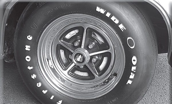 The subtle addition of taller chrome hoops allowed the F7 sport wheel to step into the modern age of 15-inch tires. The year was 1970.