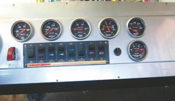 Fig. 4.27. This new gauge looks right at home in the dash. I used my 25⁄8-inch hole saw to cut the hole for mounting it. Overall, this installation couldn't have gone any easier and the gauge has been an incredibly useful addition.