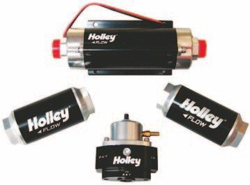 Fig. 5.17. We utilized the latest and greatest fuel system components from Holley for this installation. This series of Holley fuel pumps is incredibly quiet: so quiet, you can barely hear them with the engine running.