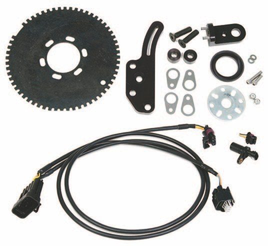 Fig. 6.30. This Holley Crank Trigger Kit is complete. Although it was designed for big-block Chevys, Bill adapted it for use with the Olds 455 with help from Precision Research. (Photo Courtesy Holley Performance Products)