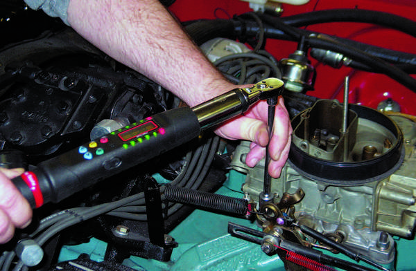 Proper tightening requires the use of a torque wrench. It's too easy, especially for the novice, to overtighten and unevenly tighten, which can easily result in vacuum leaks and a warped carb baseplate.