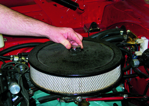 When installing an air cleaner lid, don't get carried away. If you use excessive force, you might place undue stress on the carburetor's main body casting.