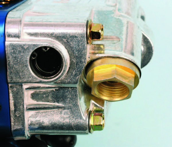 Some carbs, such as the Ultra Series 4150 carbs, have the same thread size inlet fittings, but with a smaller hex for easier wrench access. These fittings require a 3/4-inch wrench.