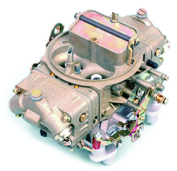 The 4150-series carbs have jet-equipped metering blocks at both the primary and secondary sides. They are available in a variety of configurations, with mechanical or vacuum secondary operation, manual or electric choke, or no choke provision at all.