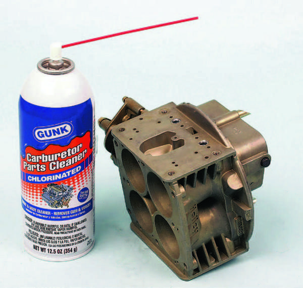 When purchasing a can of cleaner, be sure to buy a solvent that is specifically intended for carburetor cleaning.