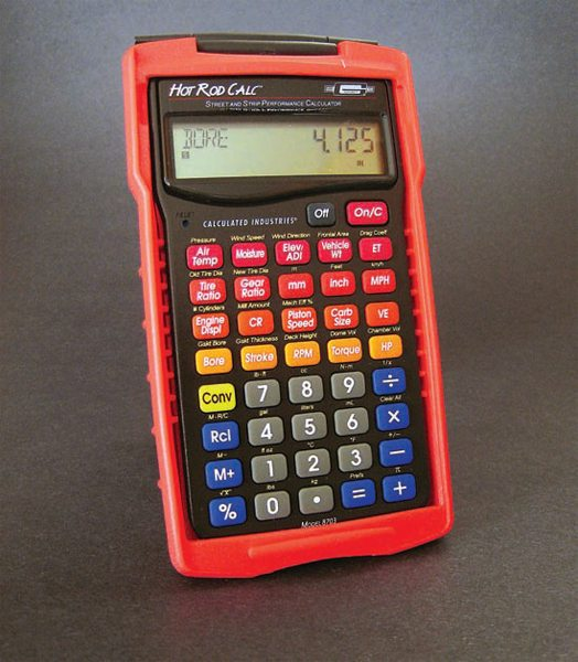 Mr. Gasket's Hot Rod Calc calculator, available through Summit Racing is the ideal companion for racers and engine builders needing to make quick calculations.