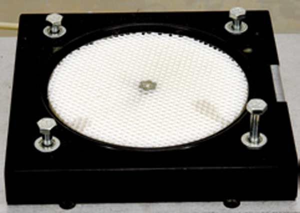 Fig. 3.22. A swirl meter can make important contributions toward developing heads that produce wide  power curves. I have used three different types over the years, including a paddle-wheel type (from Performance Trends), a Torsional torque one (no longer available), and a honeycomb one (as seen here from Audie Technology).