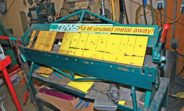 A large free-standing brake like this one can cost thousands of dollars. If you're not bending thick or large pieces, a discount bench-mount unit will work.