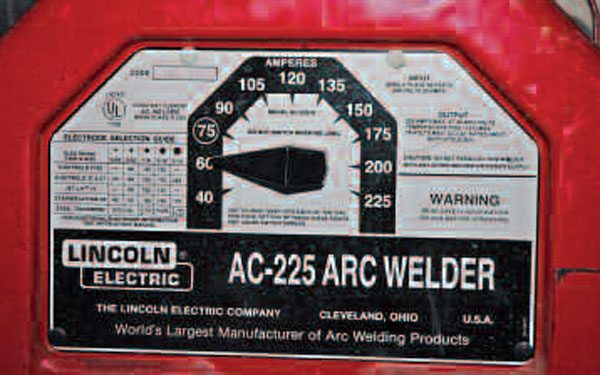 On a basic stick welder, the only thing you can set is the total amperage sent through the stick. Use the lowest possible power for light materials.