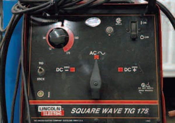 A TIG welder uses only basic controls for the maximum power and current type and polarity. However, most TIG setups use a foot pedal for fine control of welding amperage.
