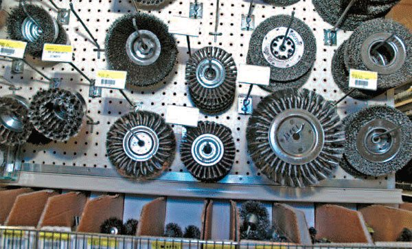 Wire brush wheels for power tools make welding prep go much faster. Get a selection of these to attach to your body grinder for convenient work.