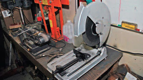A conventional abrasive chop saw is almost as good as a metal-cutting chop saw. This one costs a lot less, but generates a lot of dust.