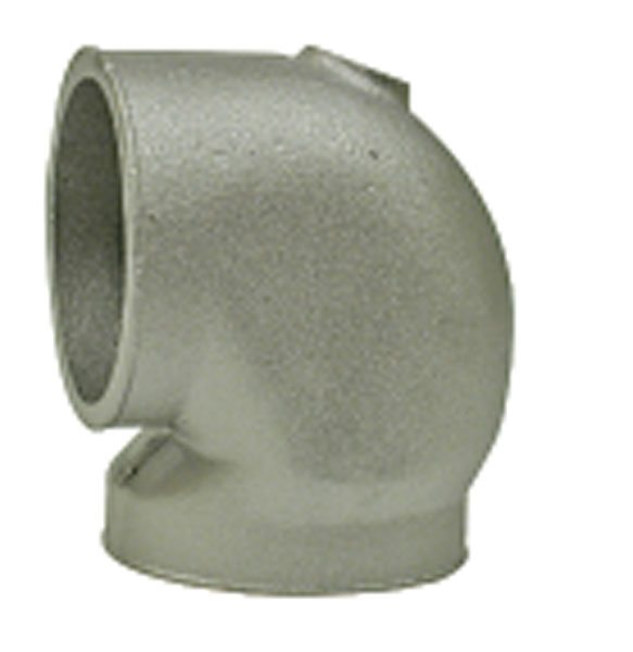 These cast-aluminum elbows are available in 2, 2.25, 2.5, and 3 inches from Turbonetics and others. (Courtesy Turbonetics)
