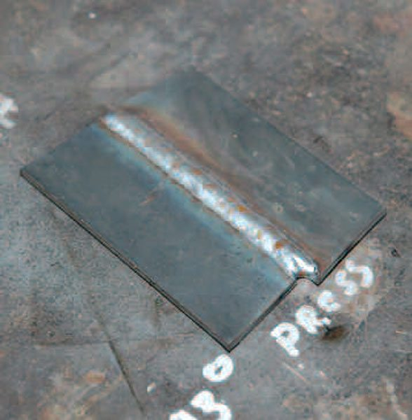 Butt welds are more difficult to create than a beveled weld. If you have to perform one, be especially careful to get good penetration.