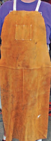 A good welding apron helps keep your clothes and your skin clean and free from burn holes. You can buy one or make your own from bulk leather.