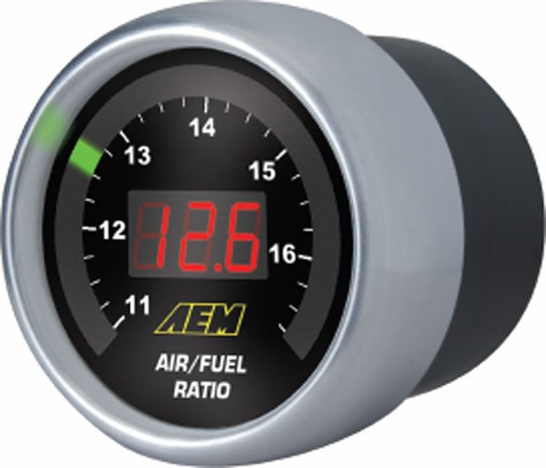 AEM also makes a UEGO digital/analog display gauge for the air/fuel read out. (Courtesy AEM)