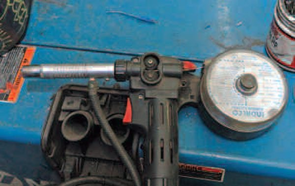 If you plan to MIG weld aluminum, consider investing in a spool gun like this one. Because the spool is right there on the gun, you don't have to feed the wire through a long cable. Also, you can switch the gun easily without having to re-route your welding wire.