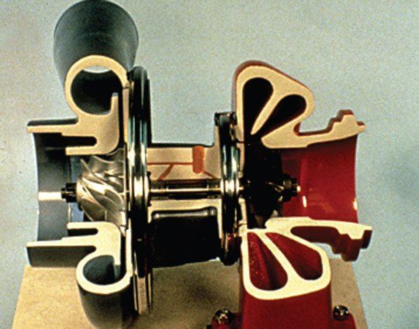 Schwitzer model 4LHR cutaway.