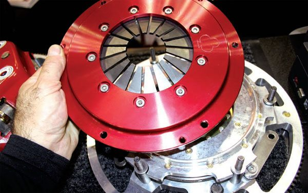 McLeod Industries produces an extremely light multi-disc clutch and flywheel.