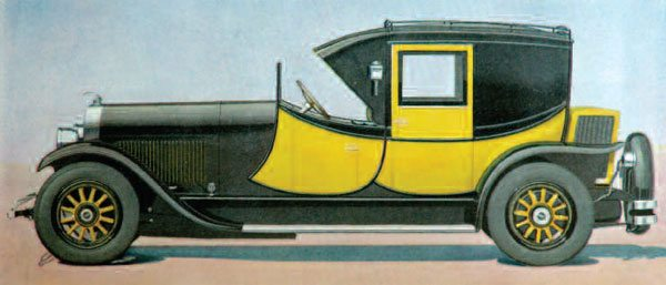 Styling can be unique and/or spectacular. This artist's conception of the 1926 Judkins Coaching Brougham body on a Lincoln chassis illustrates those potentials. While this body's sheetmetal is relatively simple, it was all hand hammered from flat stock. Note: The hood and fenders were supplied by Lincoln.