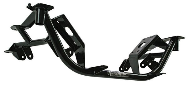 The front K-member from RaceCraft Inc fits 1982–1992 Camaro/Firebird Is made from TIG-welded 4130 chrome-moly. This Pinto rack-and-pinion drag race K-member is the industry standard when it comes to fit, finish, and design. This front hoop-style K-member provides maximum header clearance to fit larger exhaust systems. This K-member is a good choice for weight conscious 7- to 12-second factory suspension race cars.
