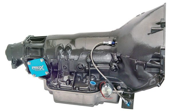 This GM TH-400 transmission is from TCI, and is suitable for heavier cars. It can handle big power reliably, and various first-gear ratios are offered. This particular TH-400 has the desirable 2.10:1 first gear.