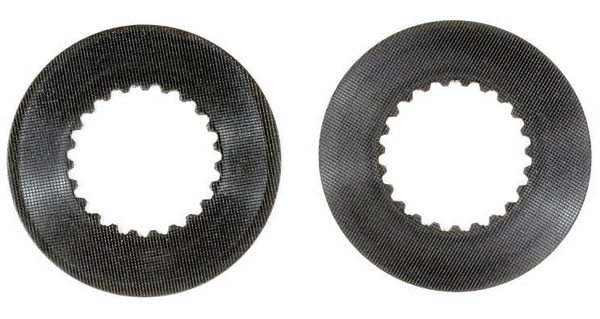 On the left is the typical amount of wear that you will find on the first and second plates. The plate on the right shows very little sign of wear.