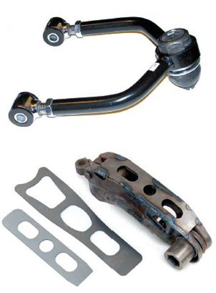 Boxing stamped-steel control arms is a good idea. Here's a boxed Mopar lower front control arm, which shows that everyone understands the importance of minimizing flex and adding strength to these suspension components.