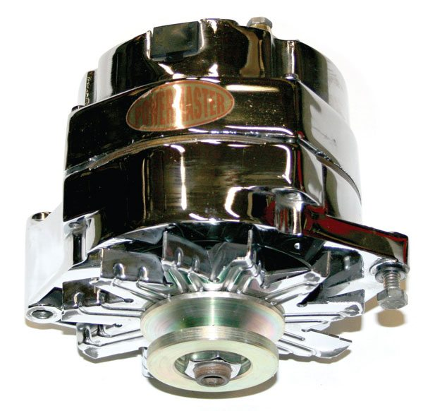 Here is a typical Powermaster high-performance alternator. Other manufacturers offer similar products, but I choose Powermaster after many years of using them without issues. The company's wide range of products means it should have an alternator to replace a factory unit directly and offer improved charging potential.