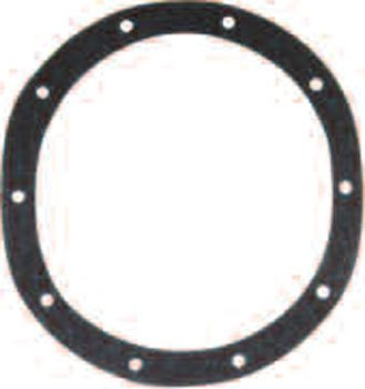 The Chrysler 83⁄4- inch axle-housing gasket flange has 10 holes and a round shape. There are a few different versions of the gasket with different notches on the inside diameter. This gasket fits all of them. (Randall Shafer/Joe Palazzolo)