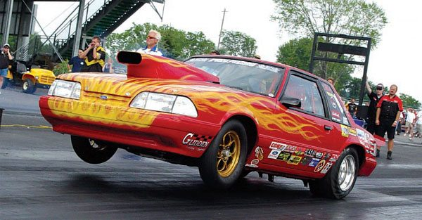 Drag racing loads the vehicle very heavily for a relatively short amount of time. (Nate Tovey)