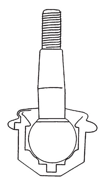 A typical ball joint allows the suspension to travel in any direction with a minimal amount of resistance. Ball joints require regular maintenance with fresh grease, and are designed to wear out over time since friction is engineered into them. When building a car for high performance, plan on replacing them to ensure you have fresh units in place.
