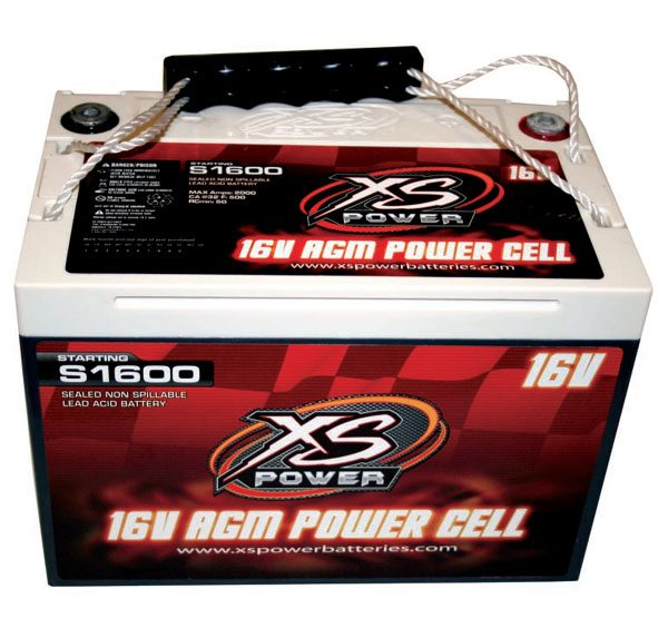 This is an XS Power 16-volt AGM battery. They never require maintenance and offer higher voltage levels to crank over high-compression racing engines with relative ease. They also last longer than traditional flooded-cell batteries, and don't require a perfectly level mounting. Competing AGM batteries made by other manufacturers offer similar benefits, but I've had good luck with the XS Power product.