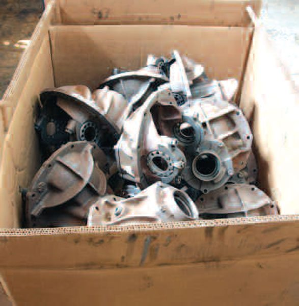 An assortment of the Ford 9-inch center sections is waiting for a new home in a vehicle. Most reputable shops have a decent inventory of such parts.