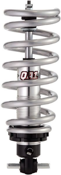 The ride height with this QA1 coil-over conversion is adjustable using the threaded shock body, and the shock is adjustable using the knob at the bottom. QA1 offers these in both single-adjustable  (shown)  and double-adjustable versions.