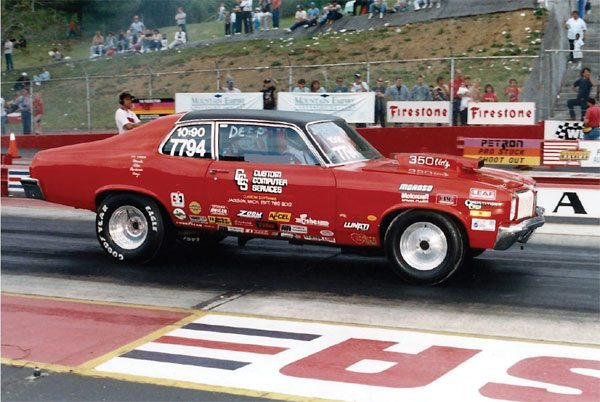 This is my former Olds Omega drag car. I used Chrysler's proven super stock leaf springs under the rear of it with great success. The car didn't know they were Chrysler parts.