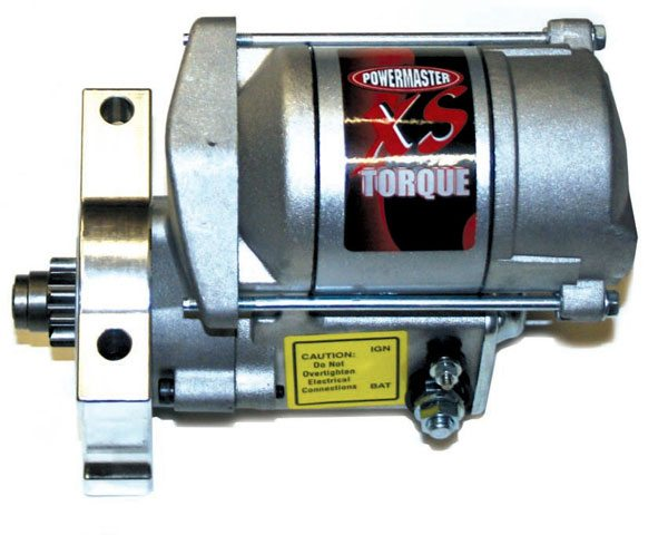 High-torque starters like this one from Powermaster are capable of starting engines with 19:1 compression and are reliable start after start. They also run cooler due to more header clearance.