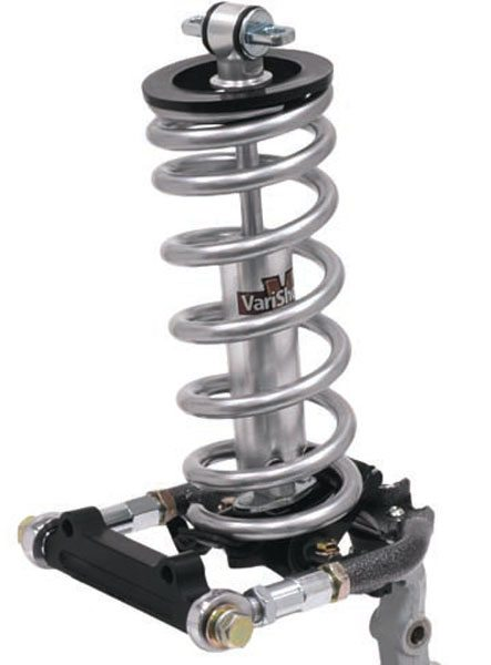 Unlike most other muscle cars of the era, Fords usually mounted the springs and shocks on the upper A-arms, rather than the lowers. Most aftermarket systems (like this TCP setup) retain this configuration. It has the advantages of simplicity and lower cost when compared to a coil-over conversion. (Photo Courtesy Total Control Products)