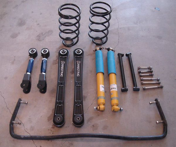 Here's a quick quiz: Which of the parts pictured here are the smartest? Is it the springs, the trailing arms, the sway bar, or the shocks? All of these parts are as dumb as dirt, except for the shocks. Their complex valving actually compensates for various conditions where the rest of the parts do the same job, regardless of conditions. The shocks are the brains of the suspension.(Photo Courtesy Gary Forman)