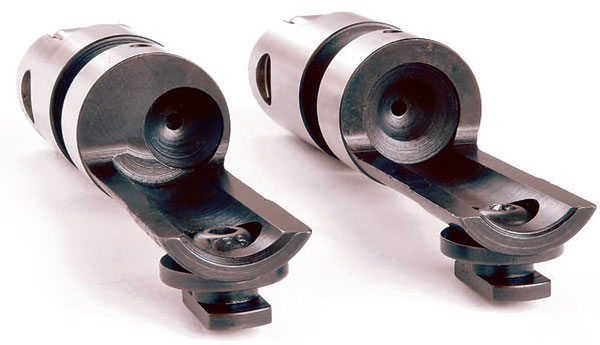 Offset lifters are often required to compensate for poor pushrod align¬ment or the need to shift a pushrod's position to clear an obstacle on the cylinder head. In many cases build¬ers mix and match lifters according to their specific needs. The Comp roller (left) shifts the push¬rod .180-inch off center and is available in left or right versions.